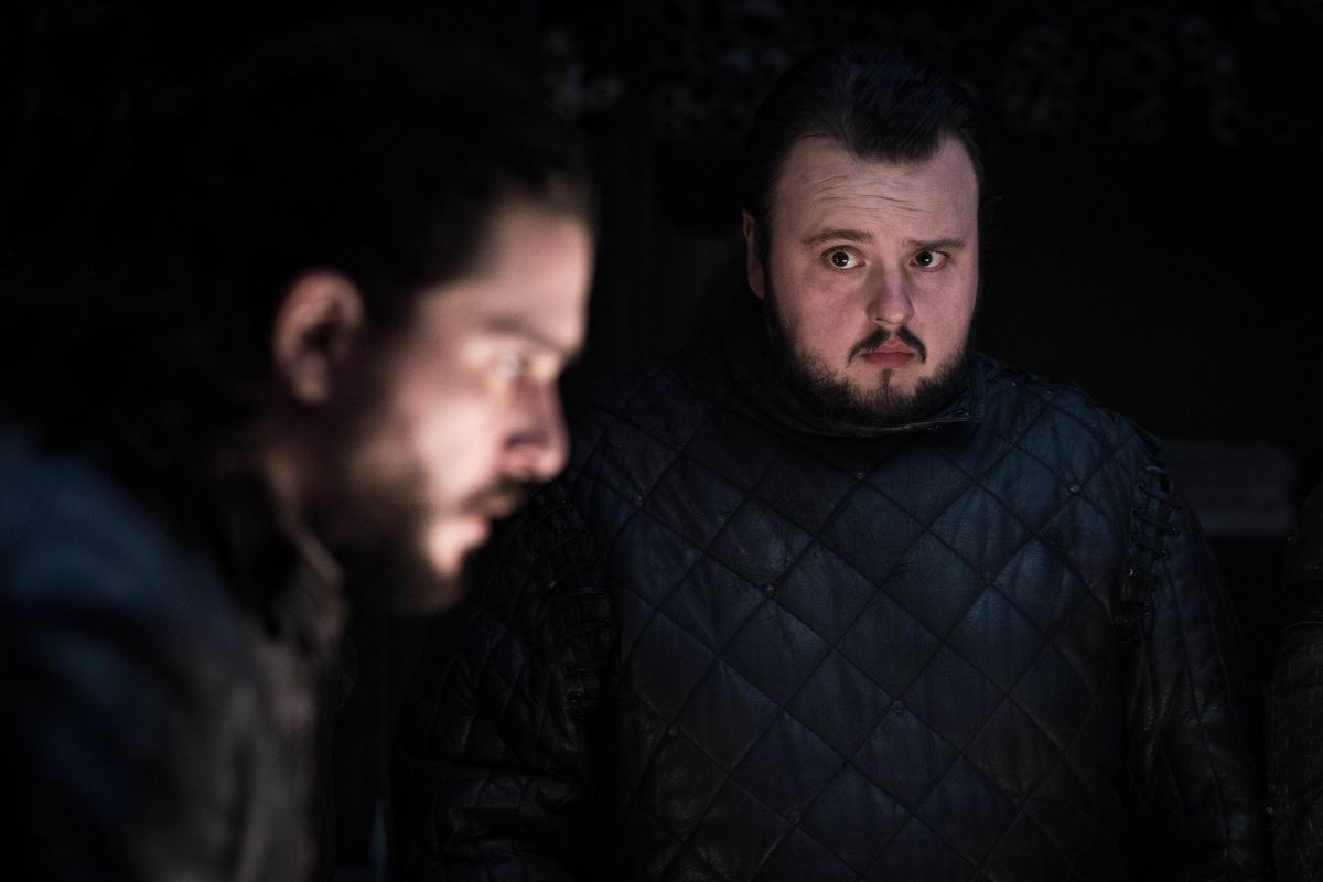 samwell tarly and jon snow plan in season 8, episode 2.