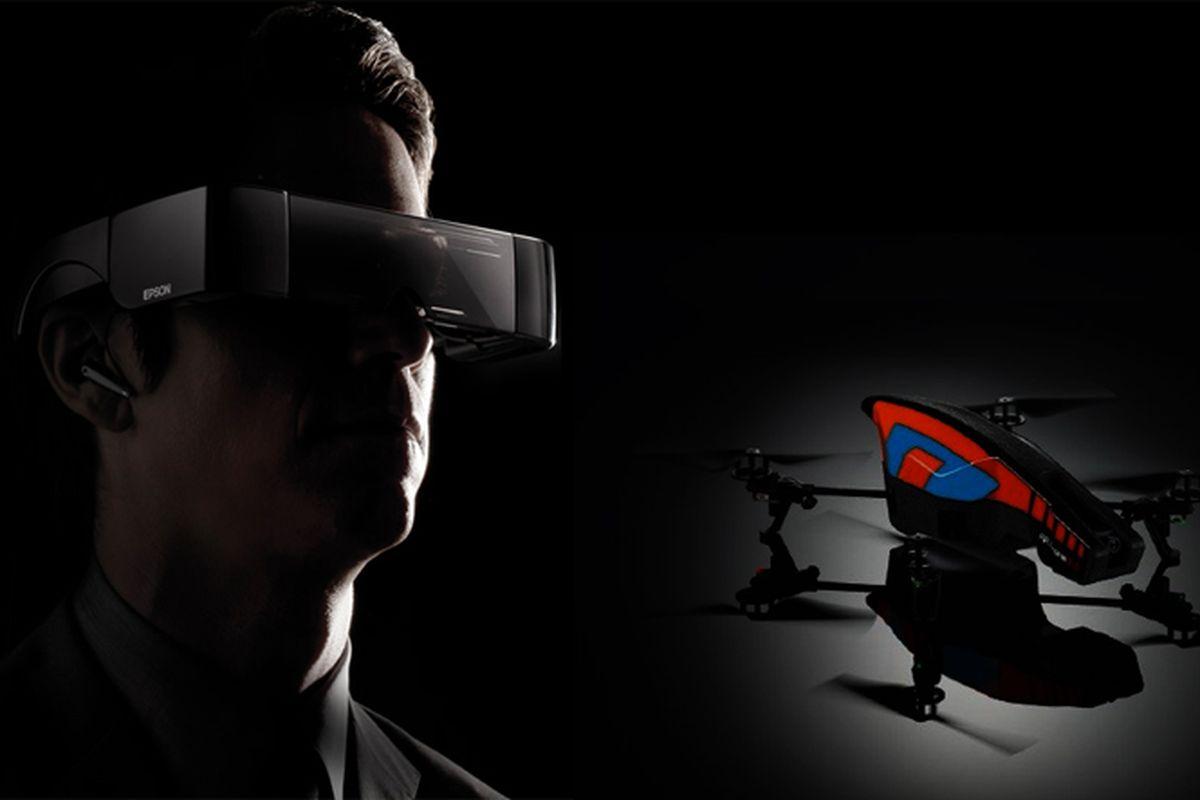Moverio and drone