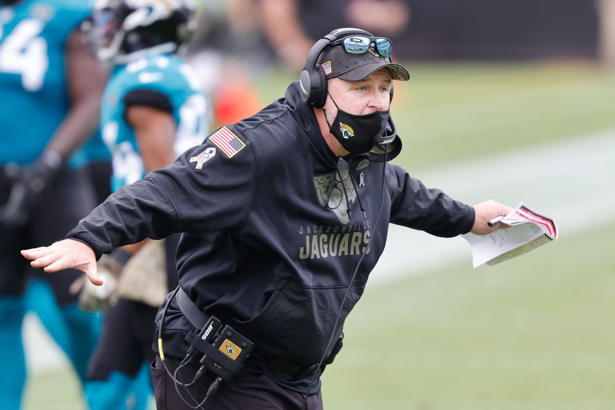 Jacksonville Jaguars head coach Doug Marrone watches from the sidelines during the second half against the Houston Texans at TIAA Bank Field.