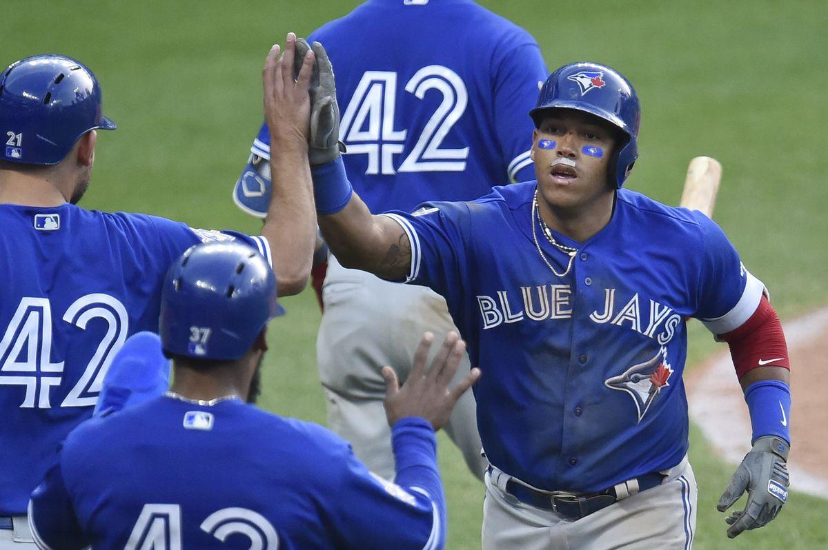 MLB: Game One-Toronoto Blue Jays at Cleveland Indians