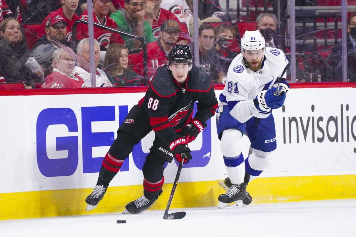 NHL: Stanley Cup Playoffs-Tampa Bay Lightning at Carolina Hurricanes