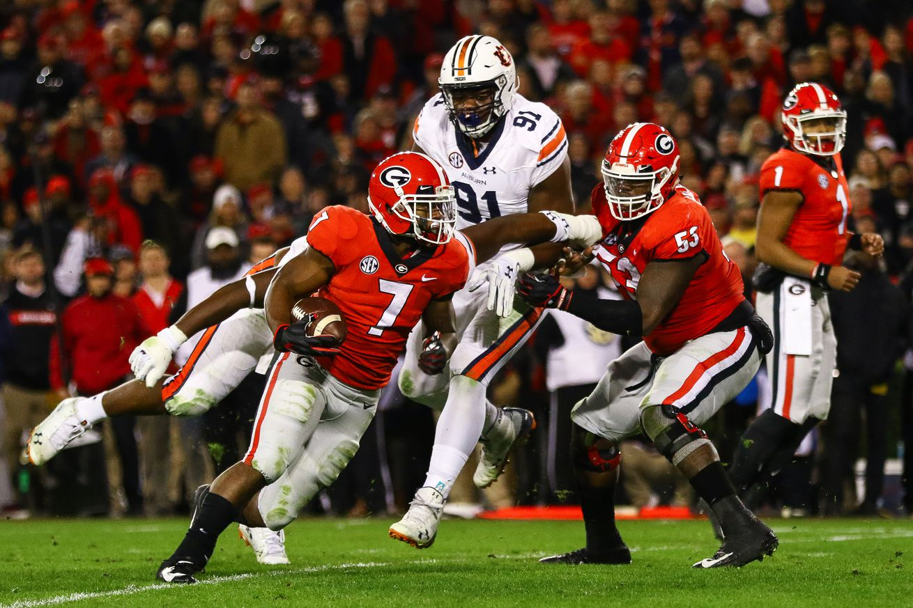 Running the ball? It may come earlier in the season against Auburn.