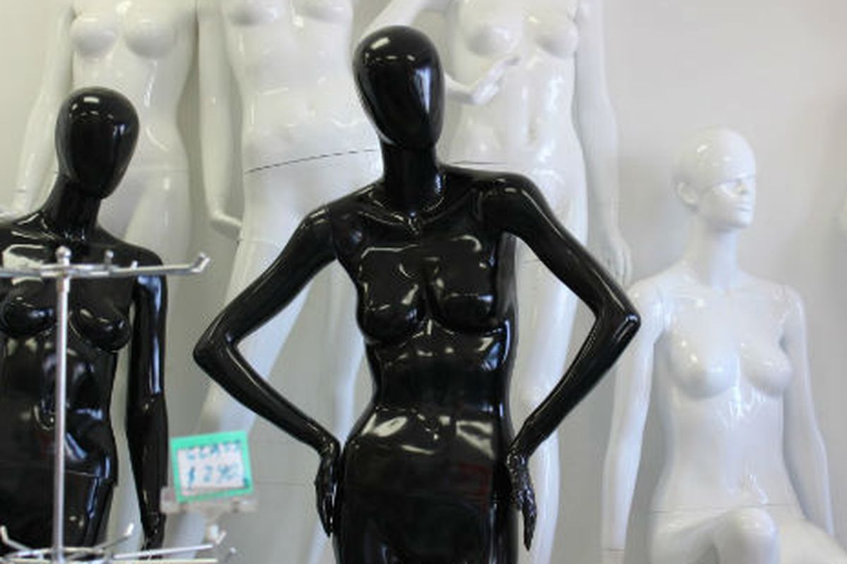 """Photo via <a href=""""http://blogdowntown.com/2012/05/6768-stiff-competition-in-the-downtown-mannequin"""">BlogDowntown</a>"""