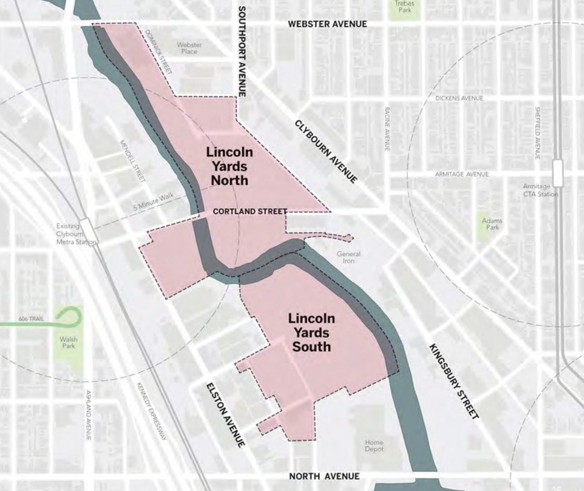Lincoln Yards update: Zoning vote later this month - Curbed ... on chicago attraction map interactive click, chicago cemetery map, chicago zones, chicago residential parking permit, chicago and surrounding suburbs maps, chicago municipal code, chicago temperature map, chicago arcology map, chicago permit parking map, chicago annexation map, chicago budget, chicago street index, chicago topography map, chicago construction map, chicago submarket map, denver rtd light rail route map, a long way from chicago map, chicago metra system map, chicago zip code map printable, chicago watershed map,