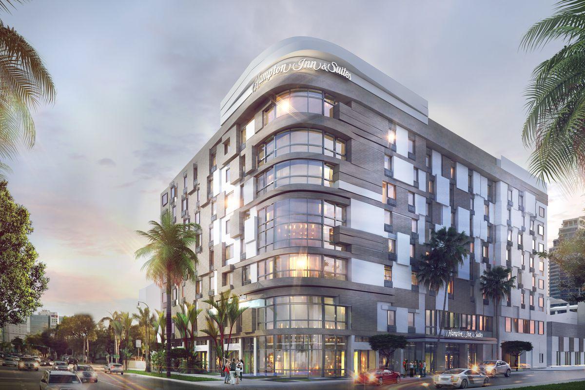 A rendering of the Hampton Inn & Suites near Midtown Miami