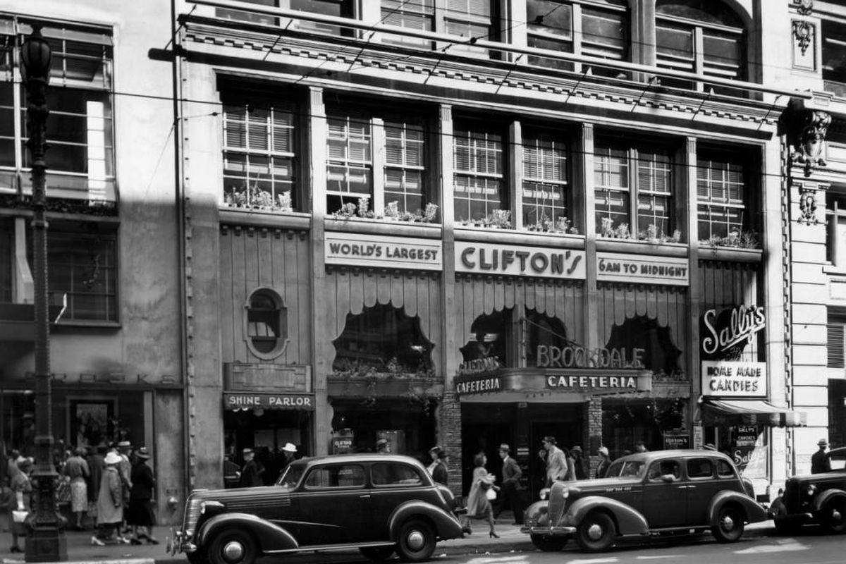 Clifton's Brookdale exterior, circa 1936
