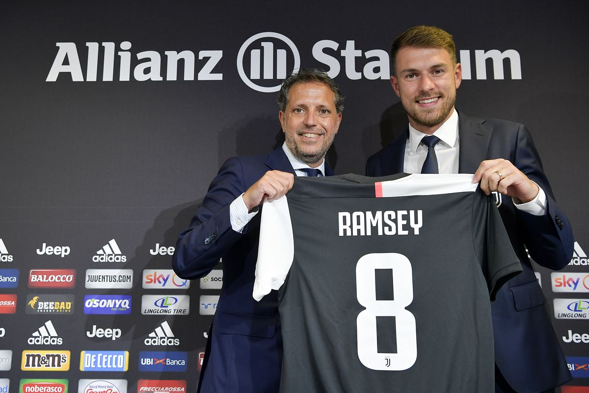 Image result for JUVENTUS UNVEIL NEW SIGNING AARON RAMSEY