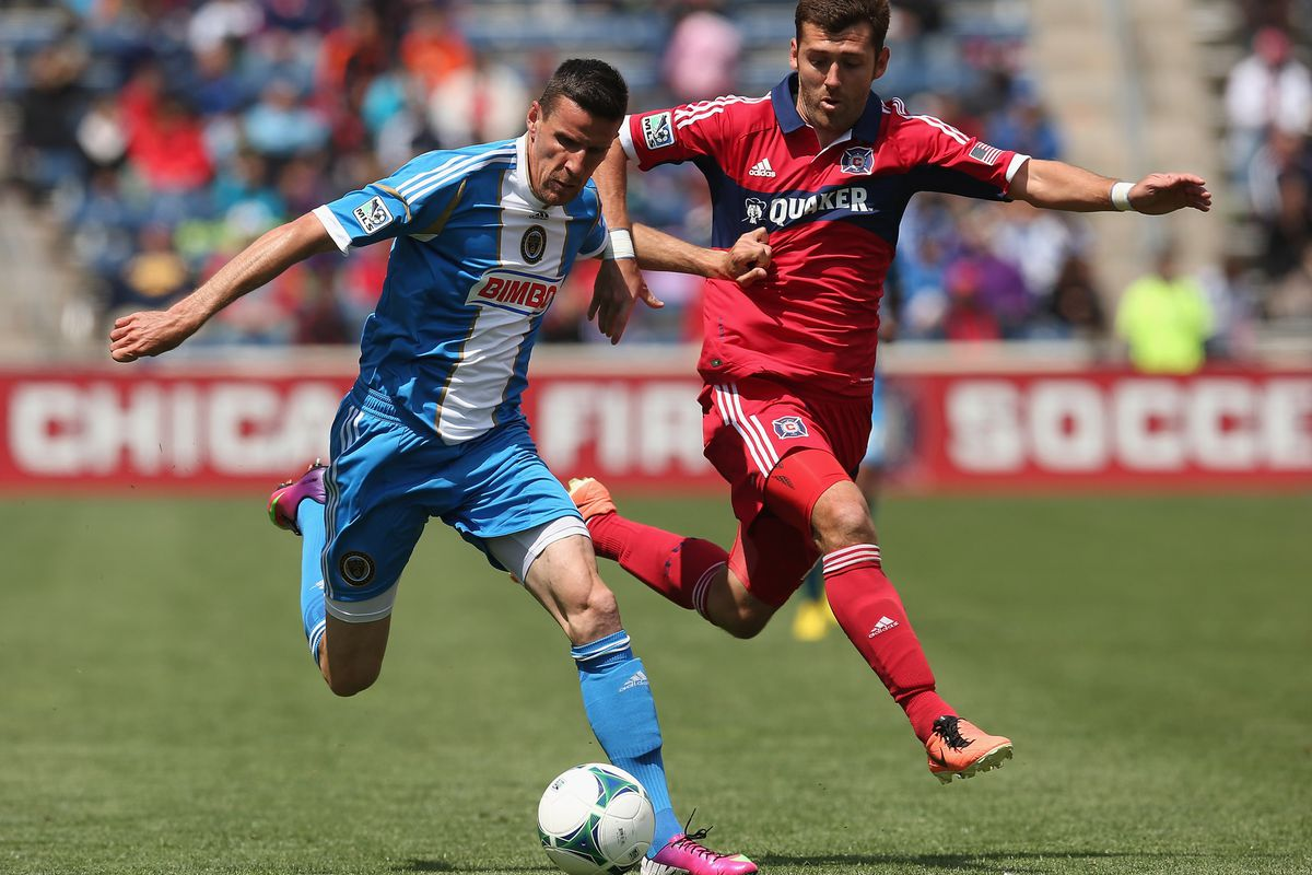Sebastian Le Toux finds himself with more support from midfield than usual in this year's version of the Union.