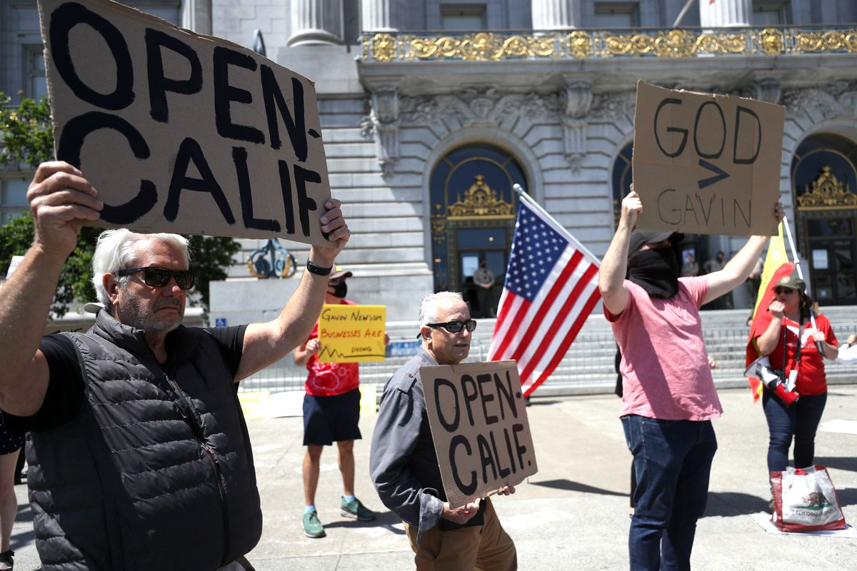 Protesters Rally In San Francisco To Open Up State