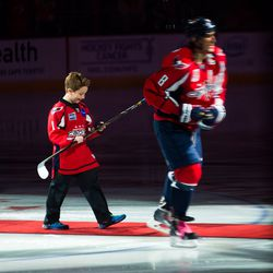 Ovechkin Gives Darby Stick