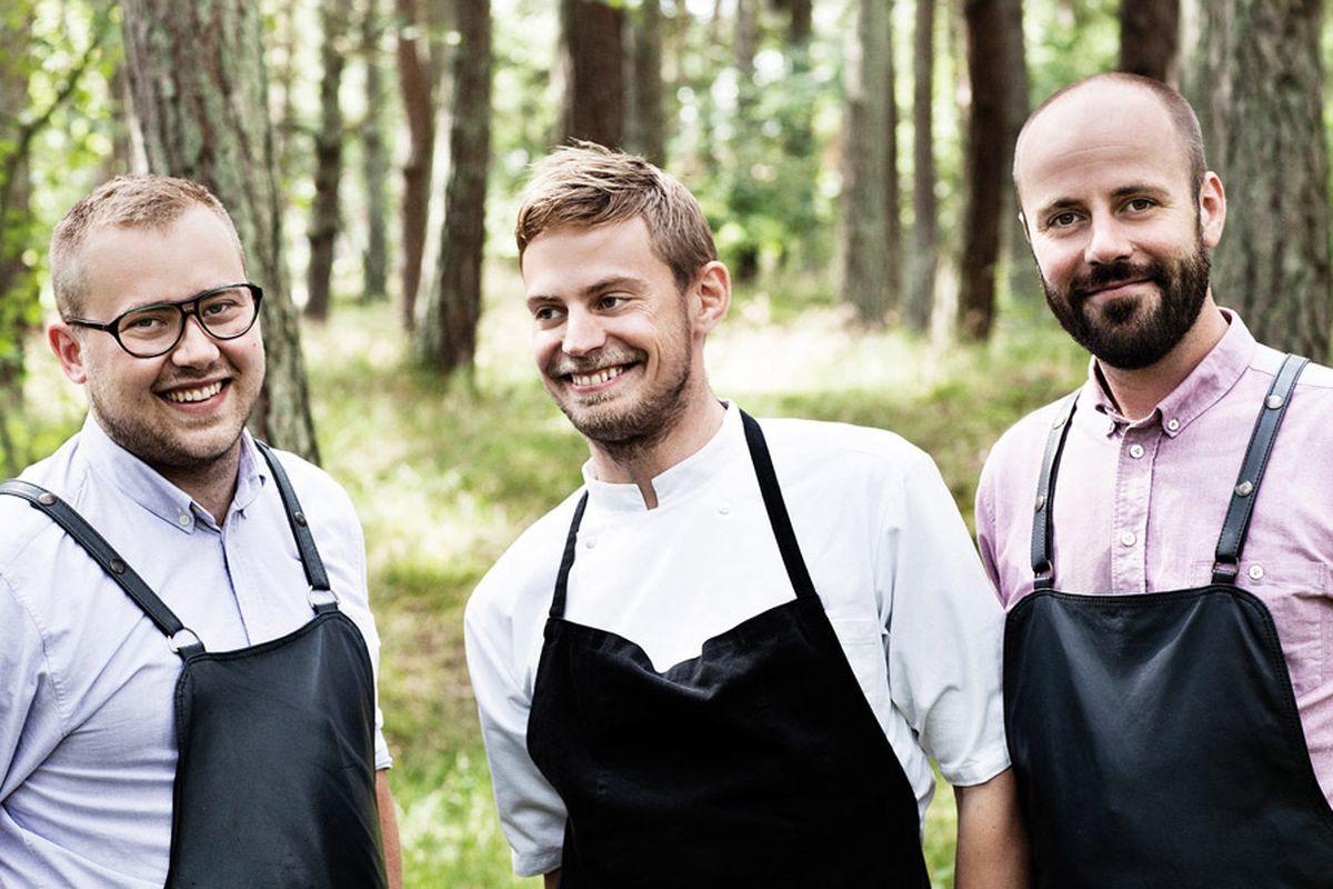 Nicolai Nørregaard (center) and partners Rasmus Kofoed and Magnus Høeg Kofoed.