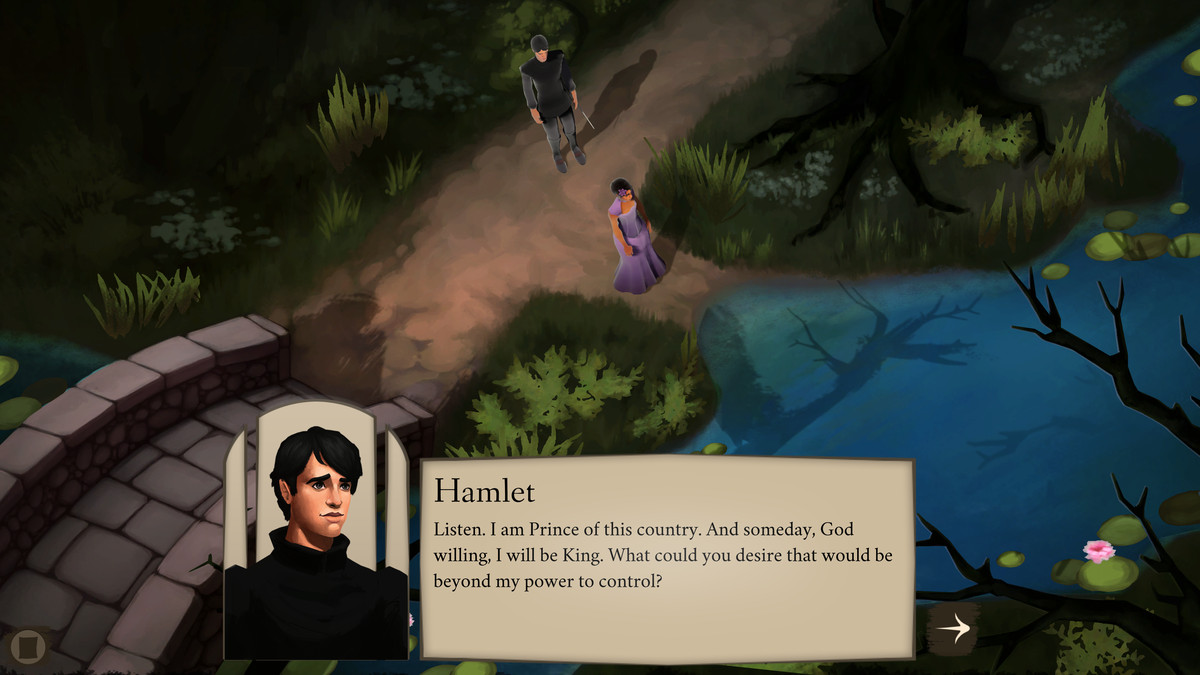 Elsinore - Hamlet and Ophelia talk by a lake