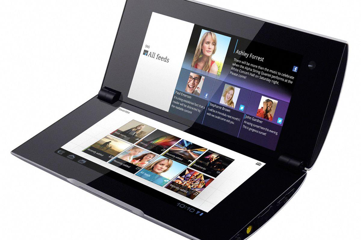 Sony Tablet P press