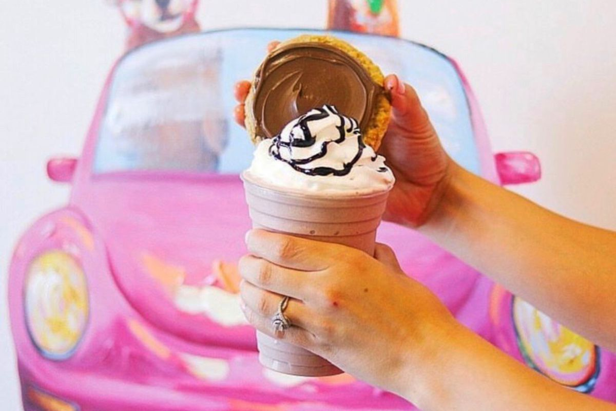 A peanut butter Nutella cookie and smoothie on sale soon in Las Vegas from Twisted Sugar.