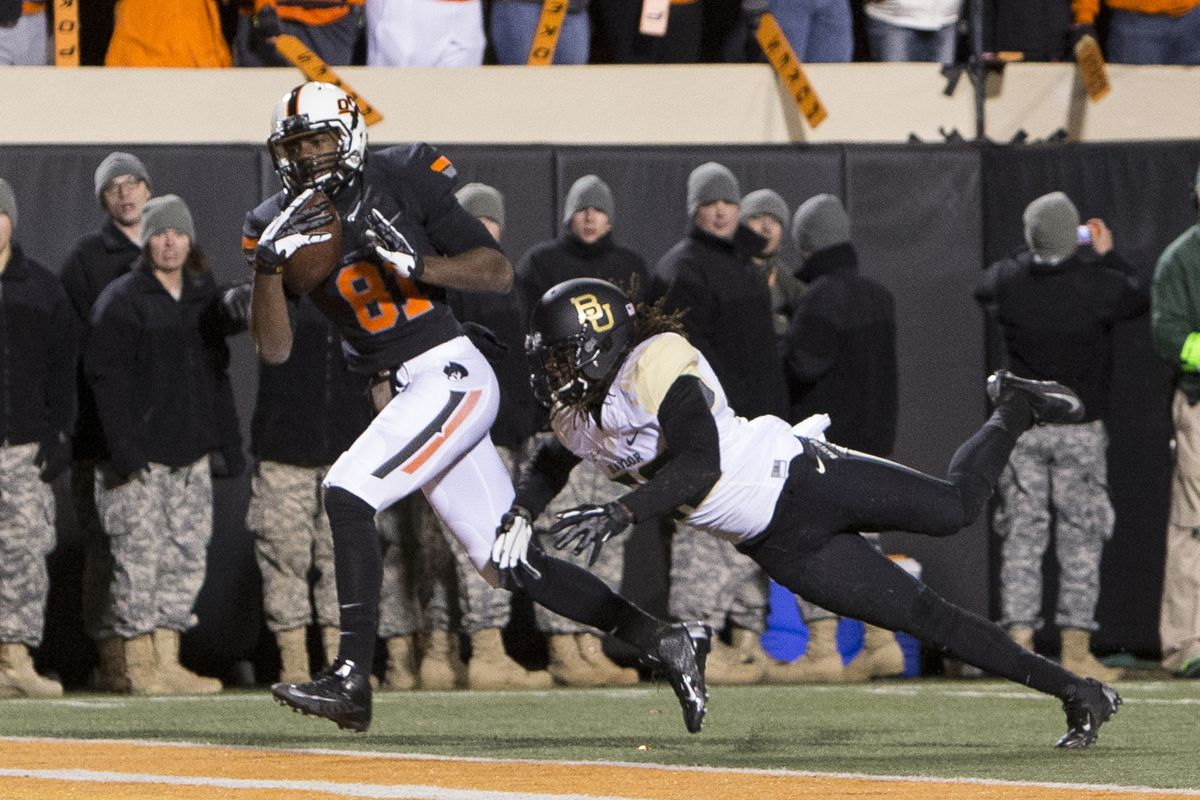 JhaJuan Seales scores on a deep ball against Baylor.