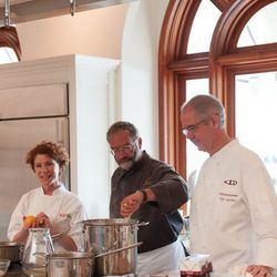 Joanne Weir and Gary Danko did a demo on summer corn at Williams-Sonoma on Saturday