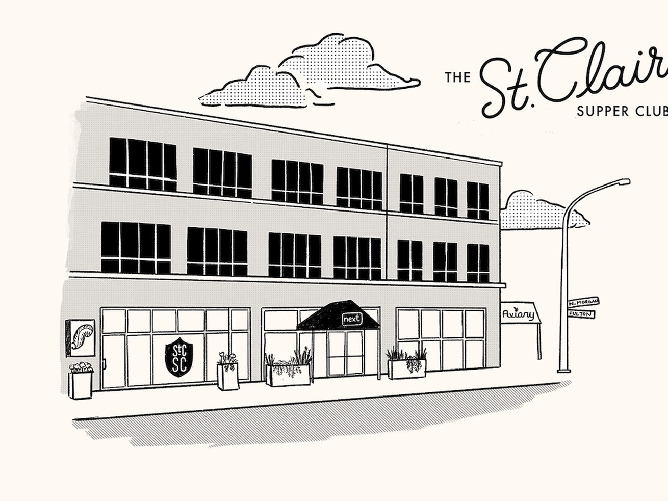 A rendering of the St. Clair Supper Club