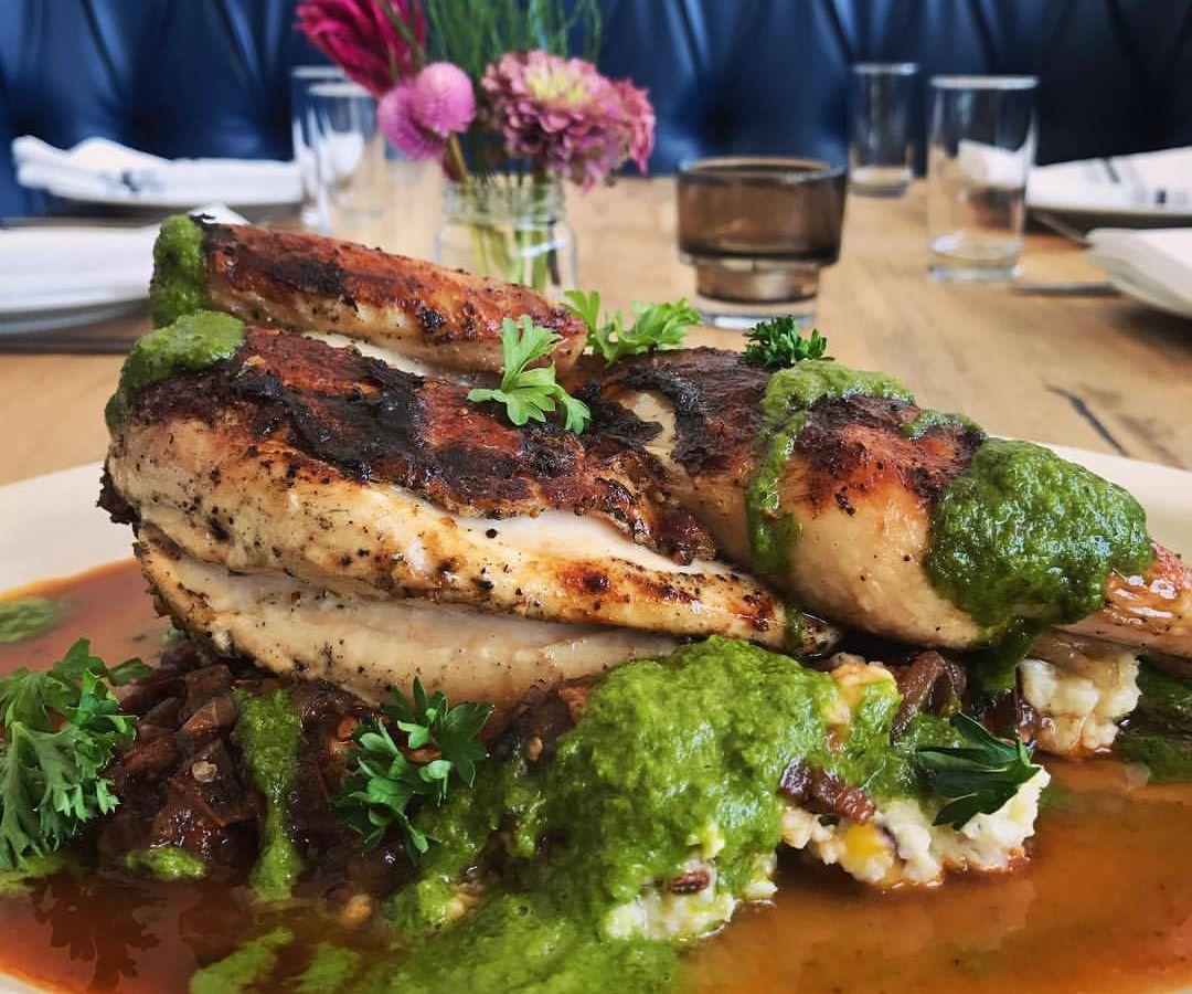 Dai Due's garlic-marinated grilled chicken