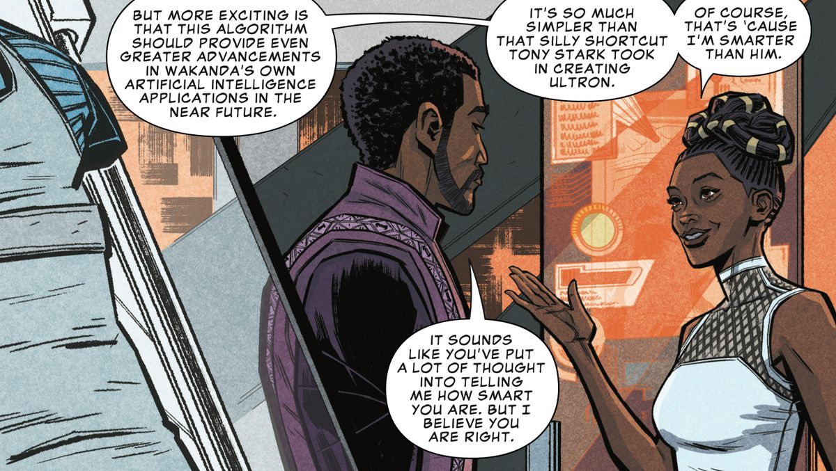 T'challa and Shuri in Marvel's Avengers: Infinity War Prelude #1, Marvel Comics 2018.