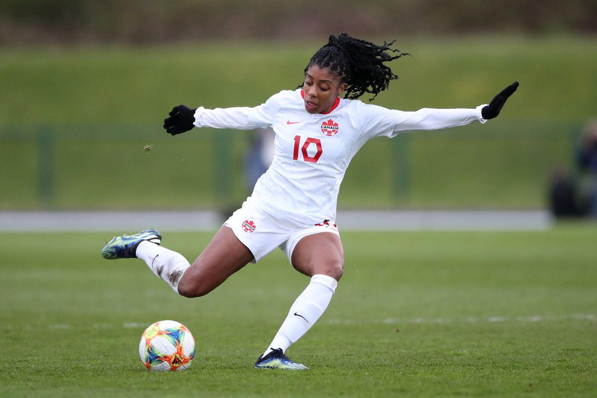 Wales v Canada - Women's International Friendly - Leckwith Stadium