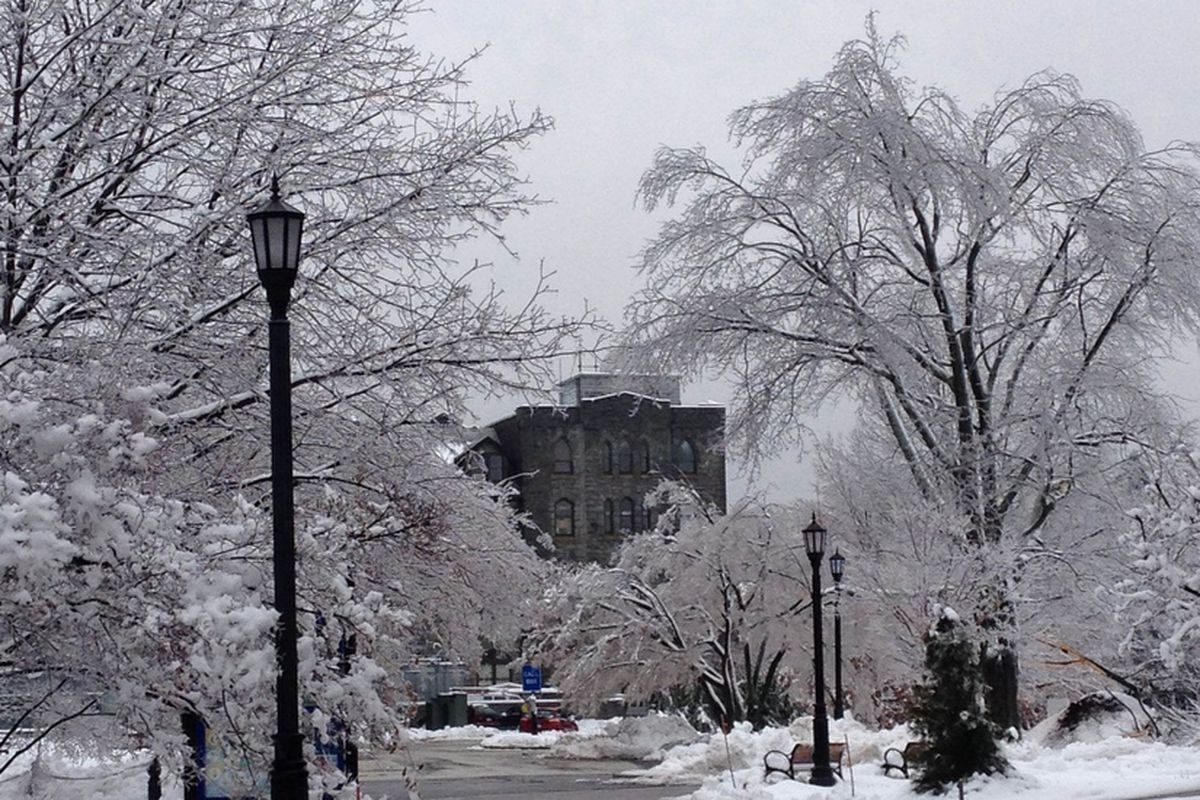 Snow & ice covered the Villanova campus on Wednesday