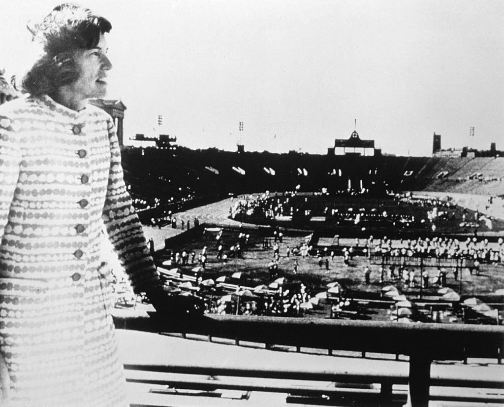 Eunice Kennedy Shriver at the first Special Olympics at Soldier Field, July 1968.  Courtesy Special Olympics
