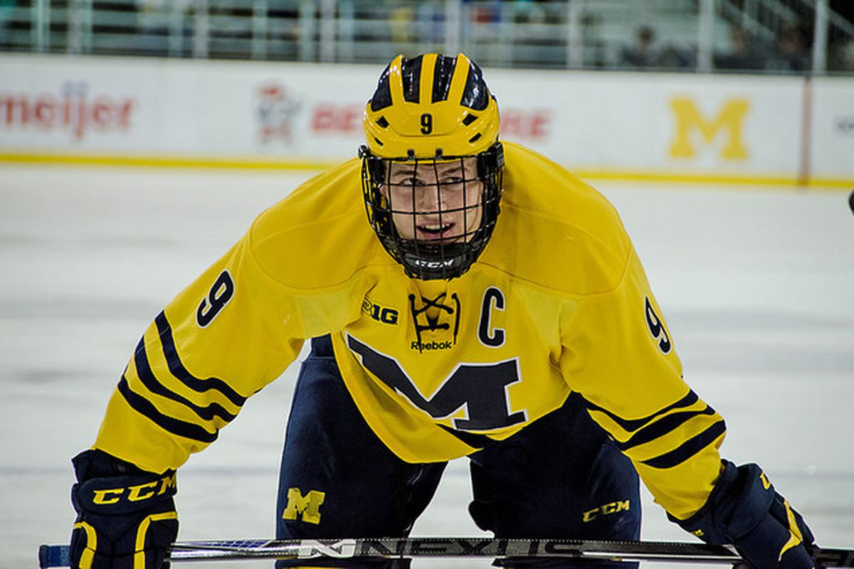 Michigan captain Andrew Copp has 24 points in 25 games this season.
