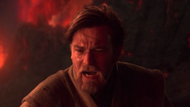 obi-wan screaming because his show was canceled in revenge of the sith