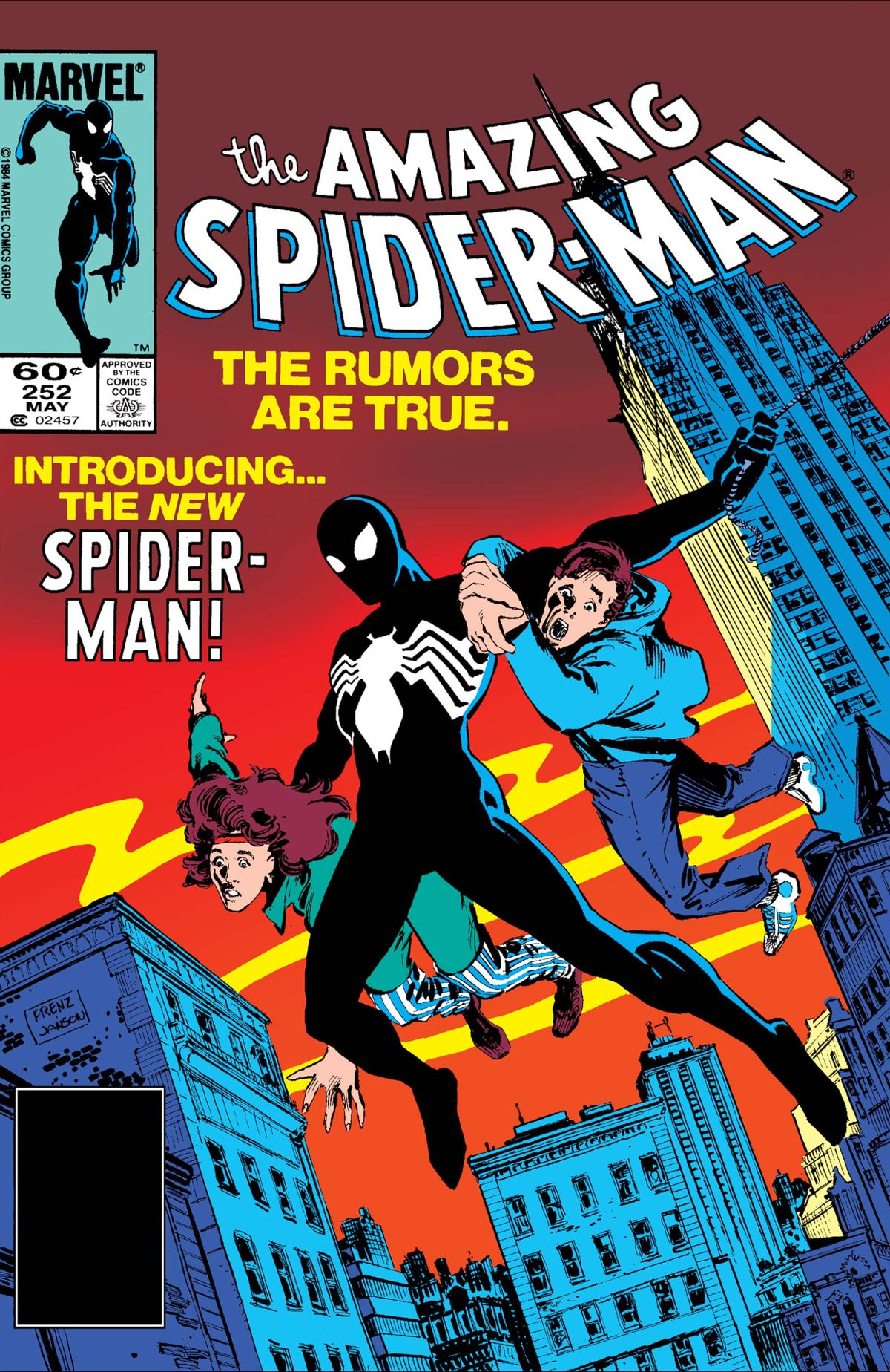 The cover of The Amazing Spider-Man #252, Marvel Comics (1984).