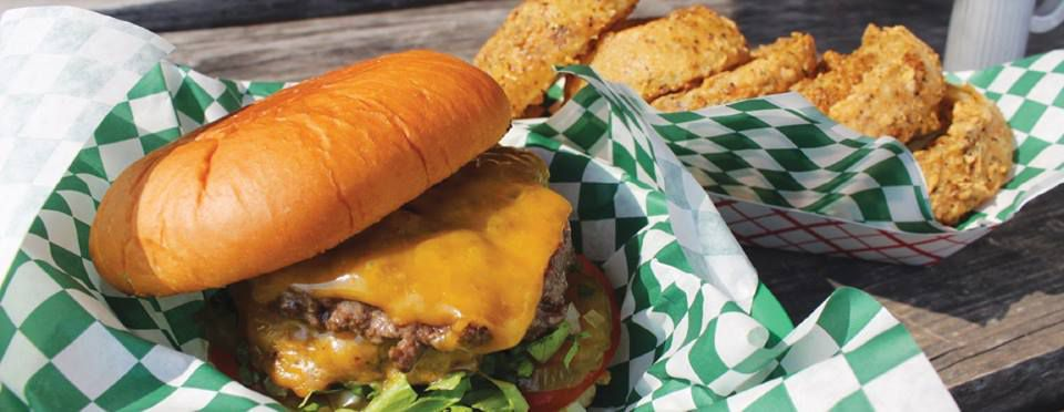 Wholly Cow Burger's burgers