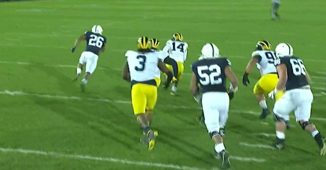 Barkley and PSU tricked Michigan with a 69-yard direct-snap TD