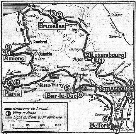 The route of the Circuit des Champs de Bataille took the riders along what had only six months before been the Western Front