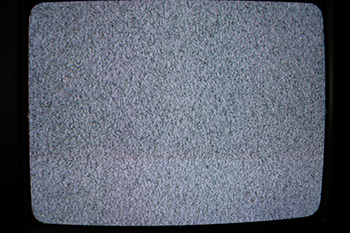 black & white TV