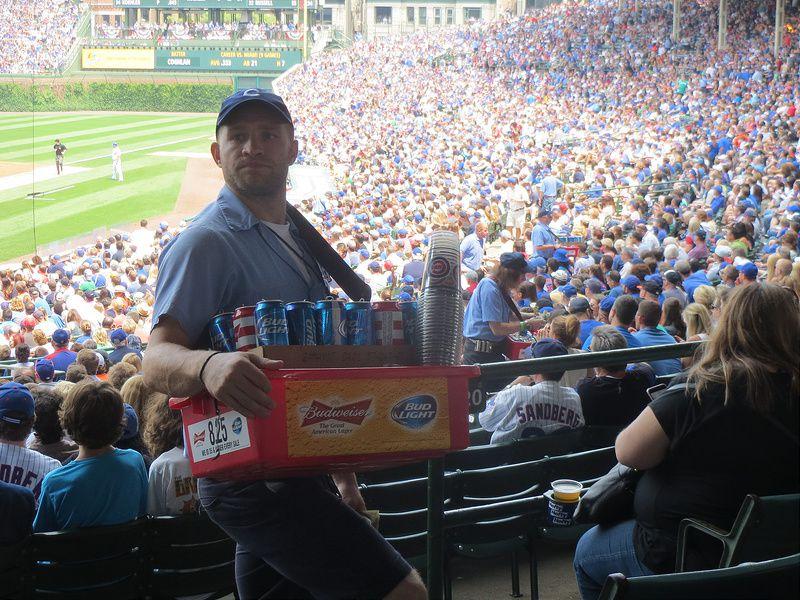 Cubs beer guy