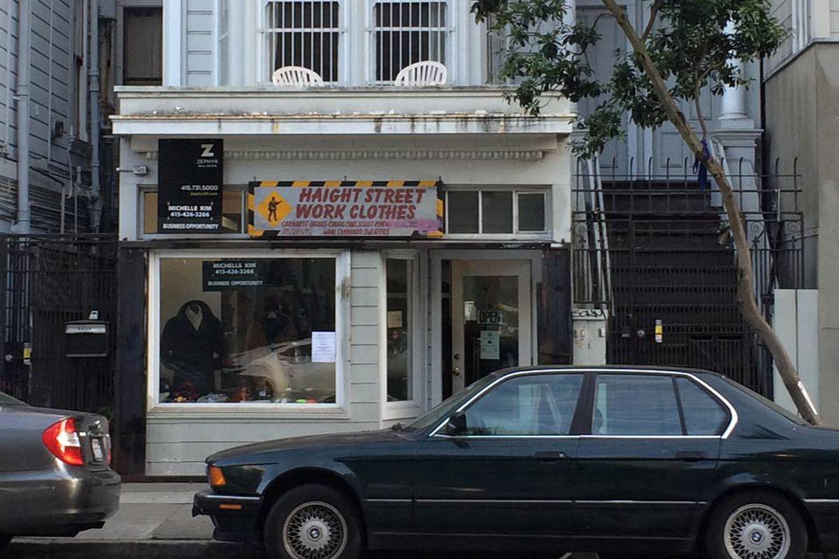 """Photo via <a href=""""http://hoodline.com/2014/02/haight-street-work-clothes-to-close"""">Hoodline</a>"""