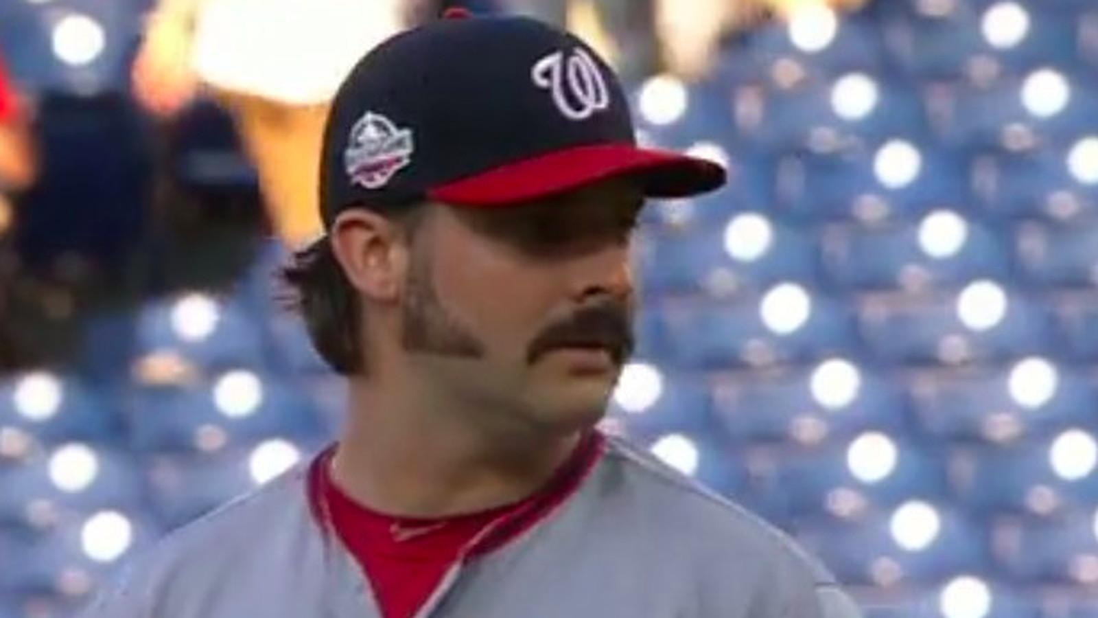 Tanner Roark brings A-game... with fantastic facial hair ...