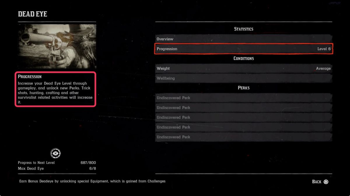 Red Dead Redemption 2 - how to earn more Dead Eye with progression