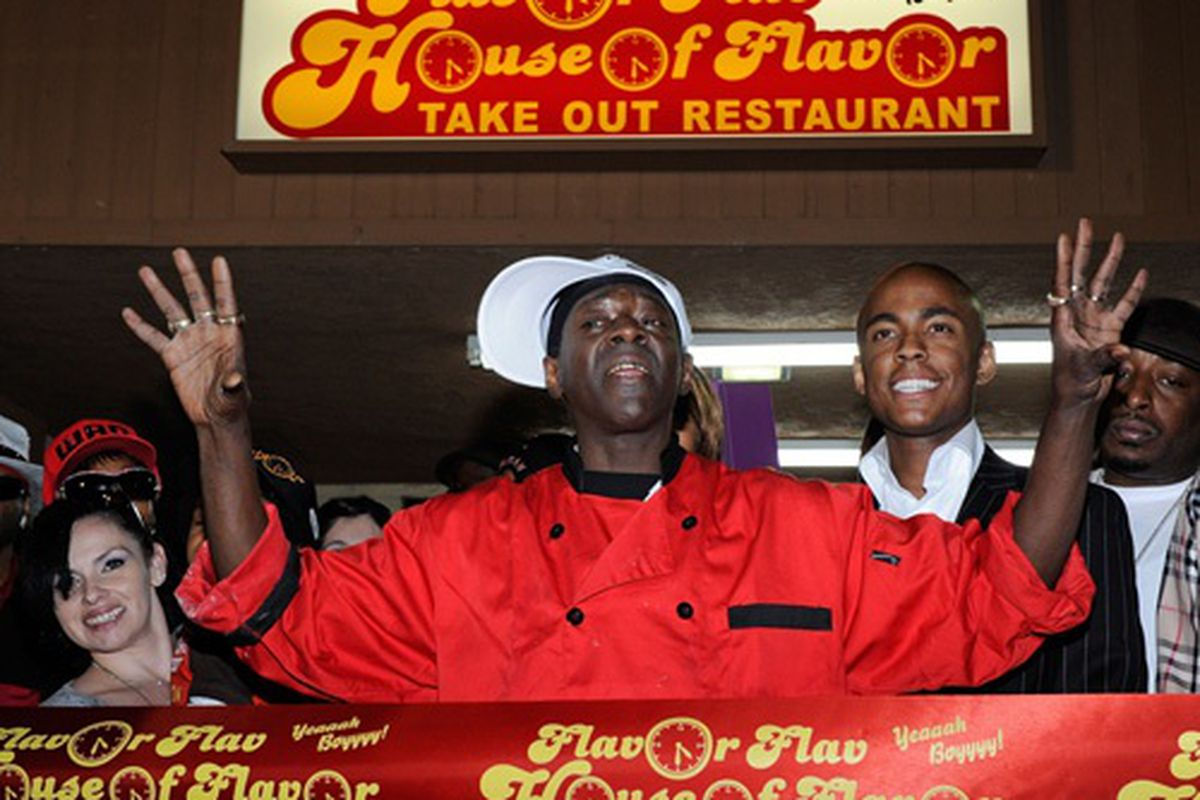 Flavor Flav at the House of Flavor grand opening.