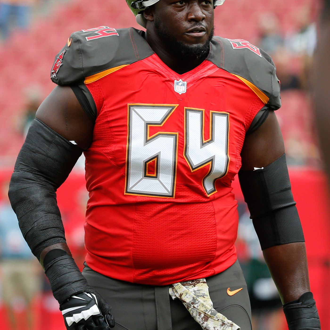 meet a58fb a97e9 Report: Titans to sign Bucs guard Kevin Pamphile to one year ...