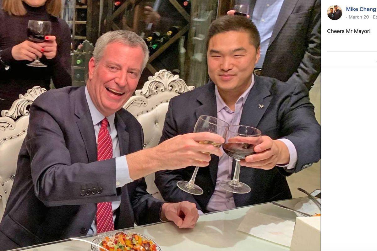 Mike Cheng with Bill de Blasio