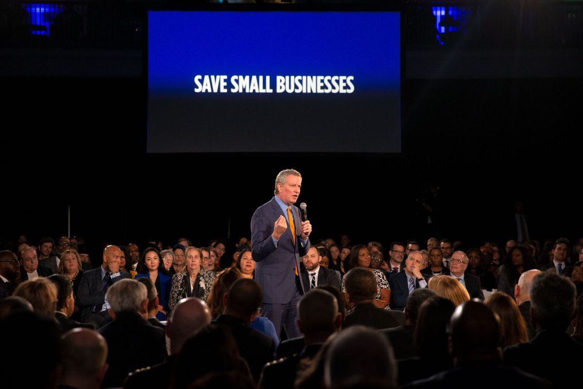 Mayor Bill de Blasio delivers his State of the City address.