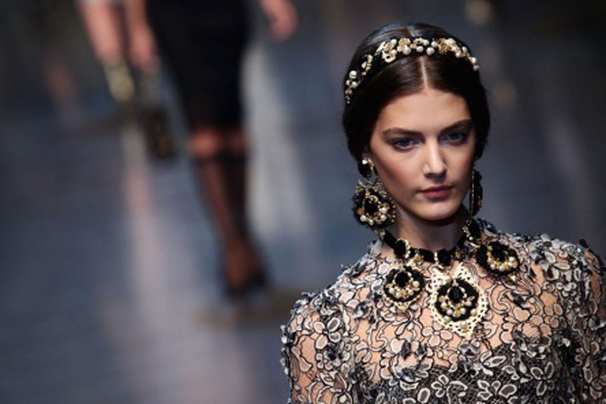 Dolce & Gabbana Autumn/Winter 2012/2013, via Getty