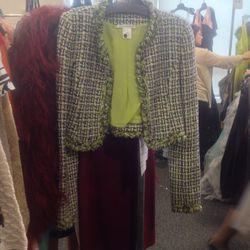 Boucle jacket, $550