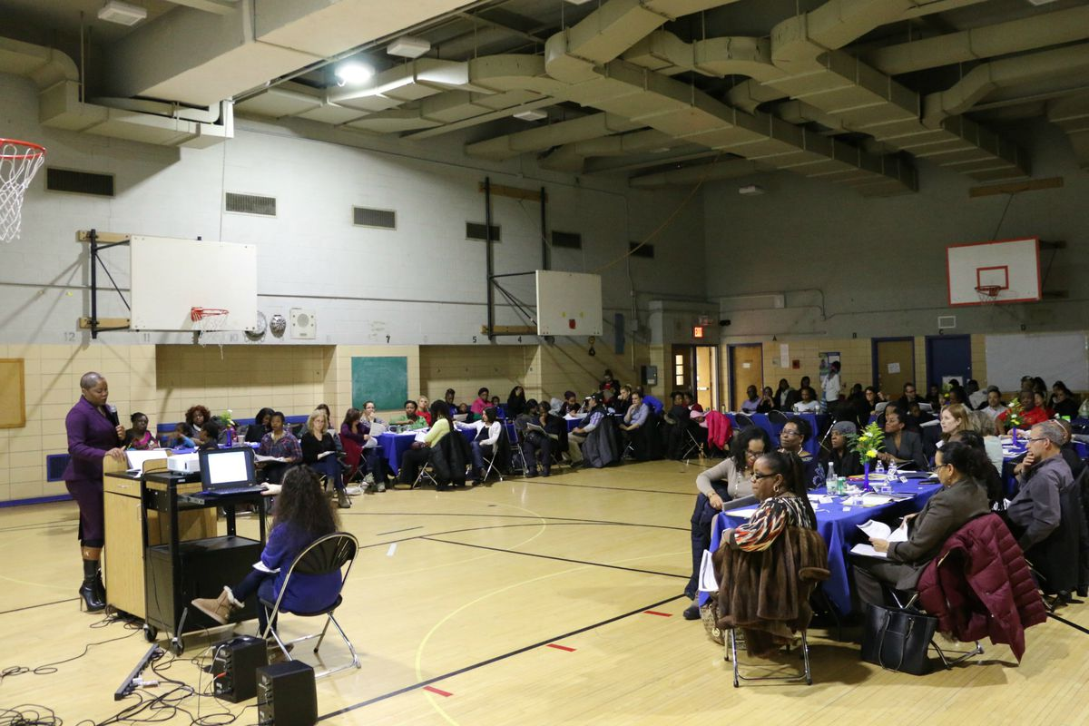 Dozens of people attended a presentation at Satellite West last month to hear about its relocation and rebranding as The Dock Street School.