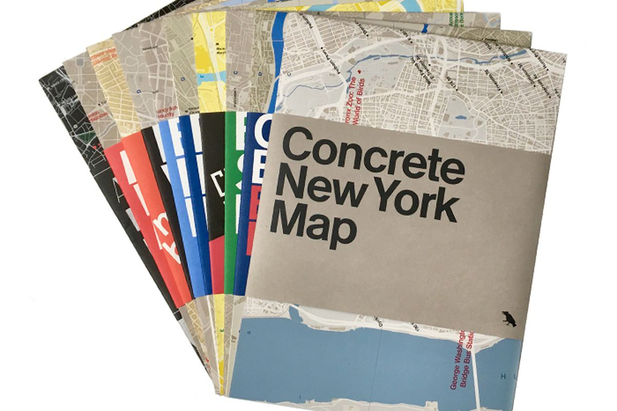 New York is built with concrete  so begins the introduction for a new map  devoted to the many structures in NYC that are made from the versatile  material. Concrete New York  map features work by I M  Pei  Marcel Breuer