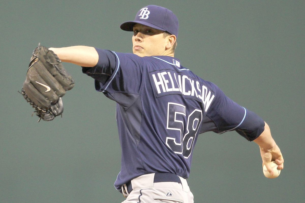 Jeremy Hellickson of the Tampa Bay Rays doesn't care that his FIP was more than a run higher than his ERA. (Photo by Jim Rogash/Getty Images)