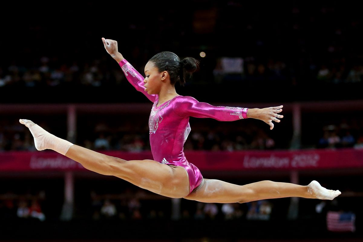 Not a Cal related picture, but Gabby Douglas winning the all around Gold probably mean that she deserve her picture up on CGB.