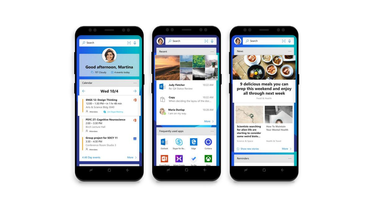 Microsoft\'s new Android launcher lets you connect your phone and PC ...