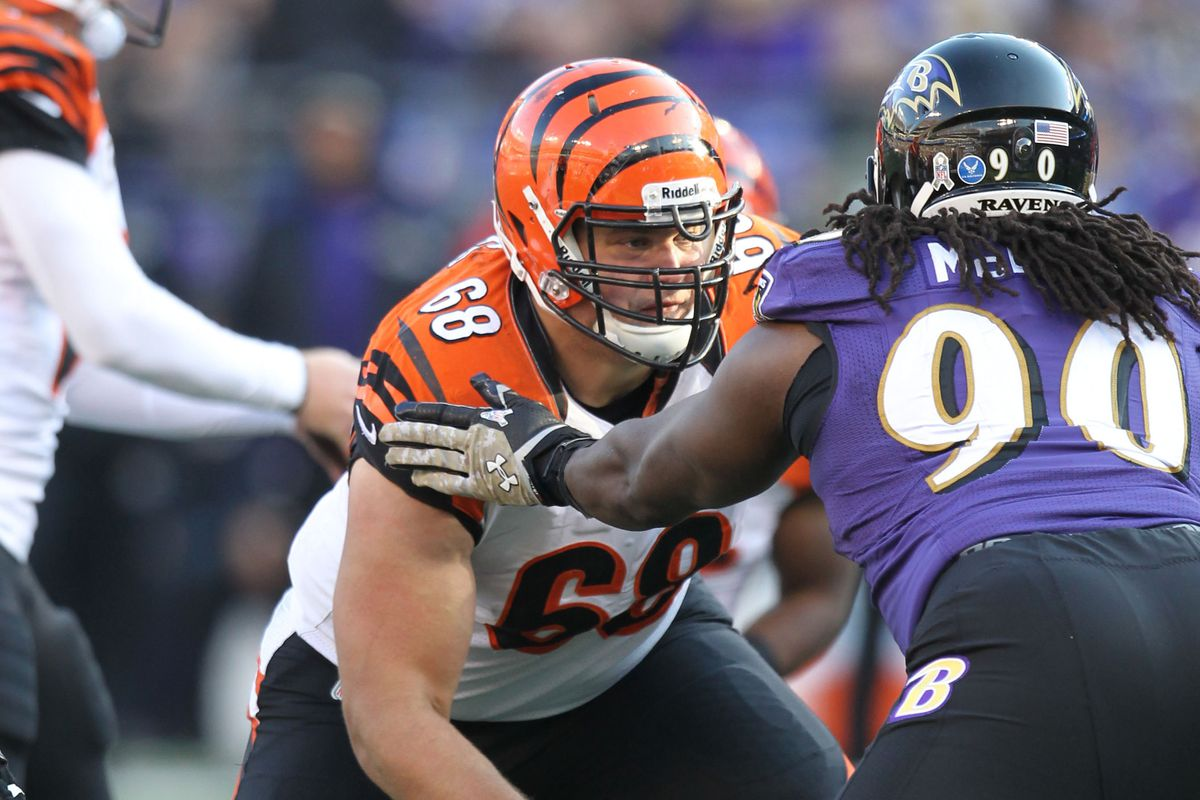 Bengals vs Chargers Kevin Zeitler sits during Wednesday s