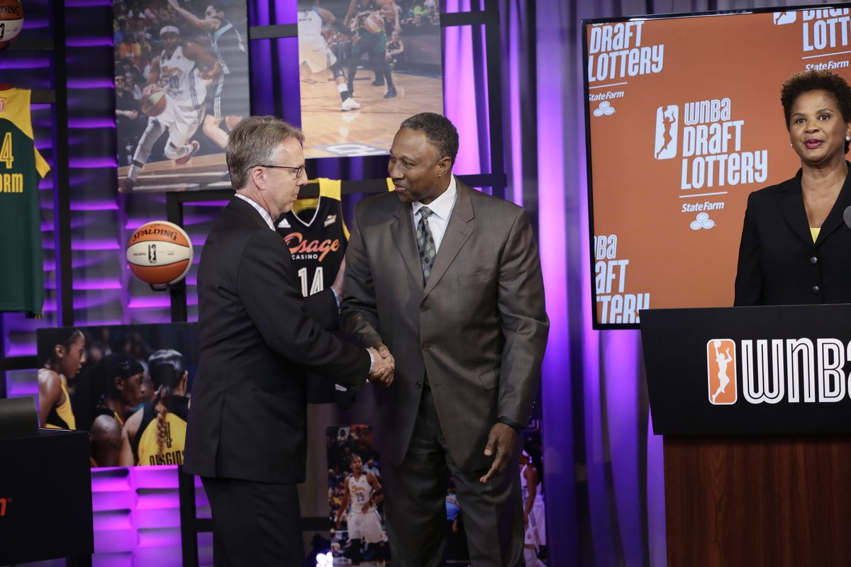 Sam Combs was forced to congratulate someone else on winning the top pick in the WNBA Draft for a second consecutive year.